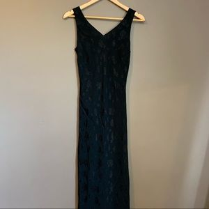 NWT! Ann Taylor black maxi dress with embroidery